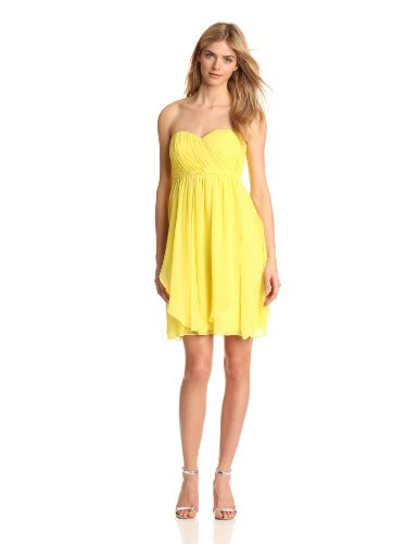 Donna Morgan Women's Blaire Sweetheart Top Dress, Lemonade, 14 (Top Dresses Sweetheart)