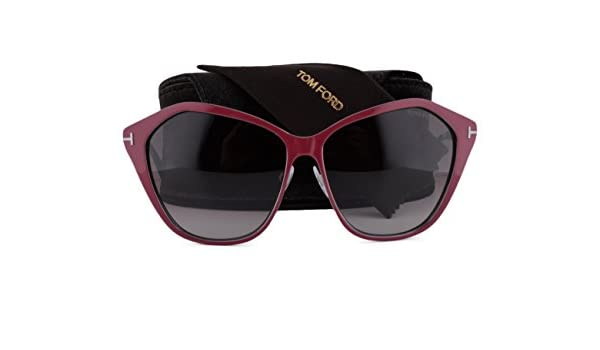 f5cdc43a89 Amazon.com  Tom Ford Lena FT0391 Sunglasses Shiny Burgundy w Brown Gradient  Mirror Lens 69Z TF0391 391 For Women  Clothing