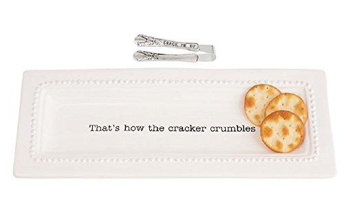 Cracker Dish and Tong Set. Dish 5 1/4