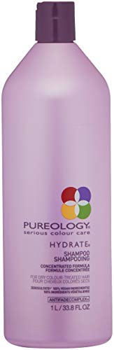 - Pureology Hydrate Moisturizing Shampoo for Color Treated Hair, Sulfate-Free, 33.8 fl. oz.