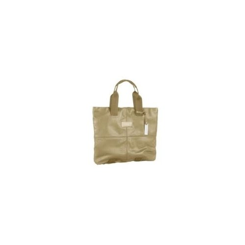 Shopping bag grande in pelle Piquadro, colore beige