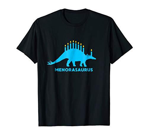 Funny Hanukkah Shirt Dinosaur Stegosaurus Dino Menorah Gift ()
