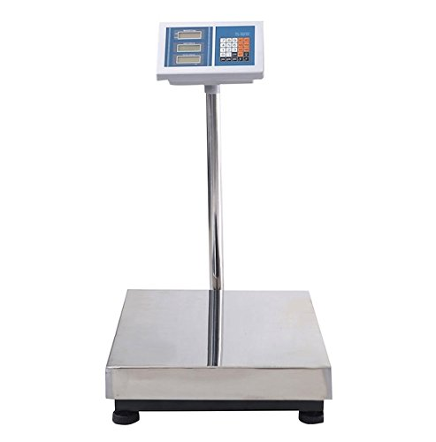 HPWOffice - Digital Floor Platform Scale - 660 LBS Weigh Capacity - Great For Both Indoor And Outdoor Use - Reinforced Stainless Steel Platform - 4 Adjustable Skidproof Feet (Nutrition 300 Book)