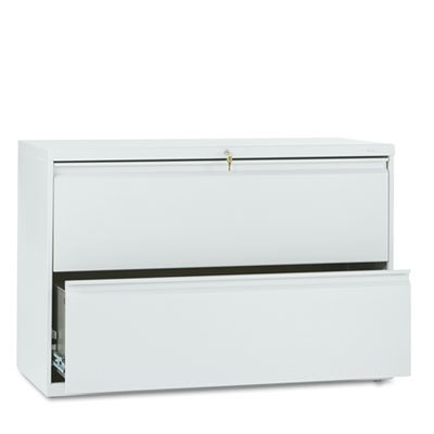 HON 892LQ 800 Series 42 by 19-1/4-Inch 2-Drawer Lateral File, Light (Gray Lateral Storage Cabinet)