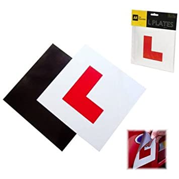 2 X MAGNETIC L PLATE CAR LEARNER SIGN STICKERS EXTERIOR CAR VEHICLE STICKER NEW