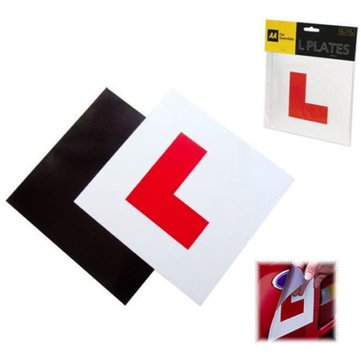 WINOMO 2Pcs Magnetic Learner L Plates Motorcycle Car Sticker Magnetic L Plates Learner Driver Plates