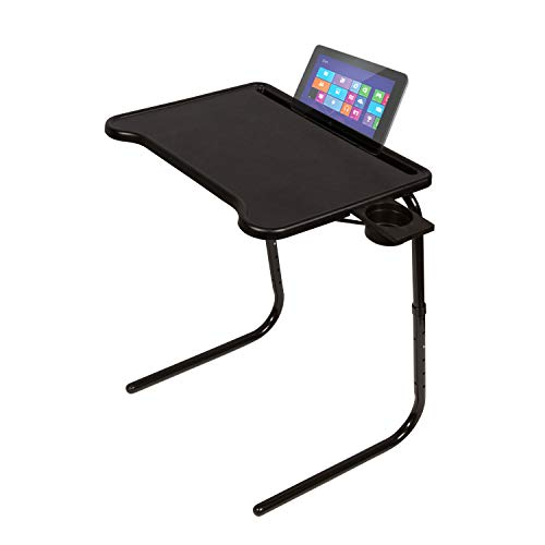 Vintage Tv Trays - Table Mate Ultra Folding TV Tray with Device Holder (Black)