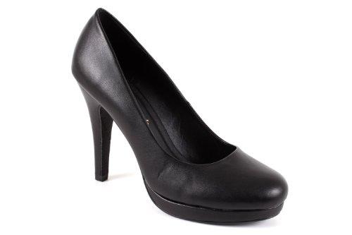 grandes peep Mujeres toes Negro Andres Vernis Números para negro am554 32 Machado UEw0q0xHT