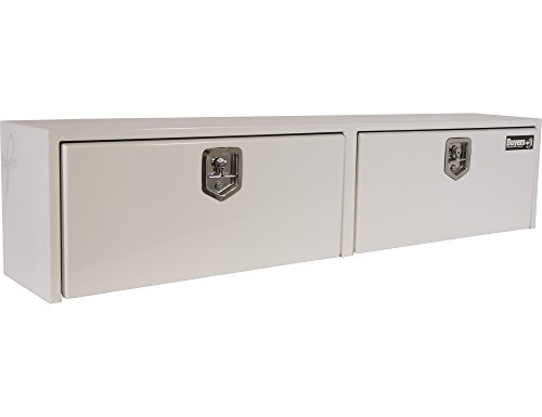 Buyers Products White Steel Topsider Truck Box w/ T-Handle Latch (16x13x72 Inch)