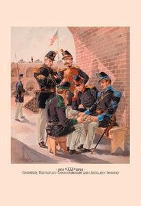 Engineer, Footrifles, Dragoon, Light Artillery and Infantry Fine Art Canvas Print (20