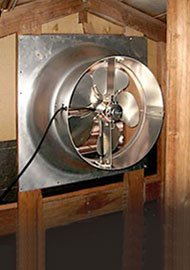 Natural Light Solar Powered Attic Fan - 6