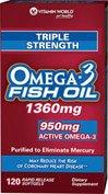 Vitamin World triple-strength-omega-3-fish-oil-1360-mg.-120 Softgels
