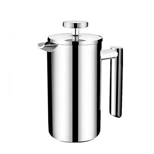 J&ULIM French Press Coffee Maker, Stainless Steel Cafetiere, Coffee Plunger with Filter, Manual Coffee Maker with Silver Finish, Tea Or Cafetiere Kettle,8Cup/1000Ml