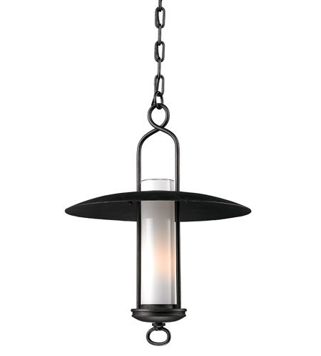 Troy Lighting F3337, Carmel Outdoor Ceiling Lighting, 100 Total Watts, Graphite - Carmel Outdoor Pendant Light