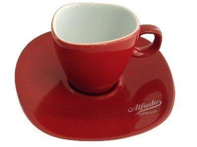 Alfredo Espresso Tasses Et Soucoupes Rouge Valkyrie 6 Pi/èces