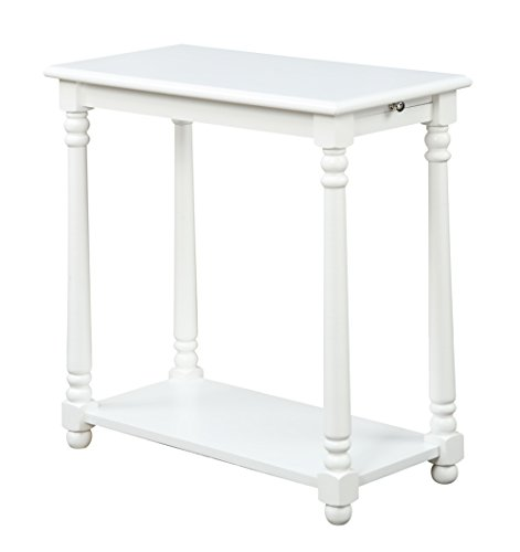 Convenience Concepts French Country Regent End Table, White