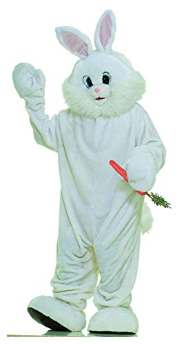 Forum Novelties Bunny Mascot Costume Plush Fur Rabbit - White - X-Large ()