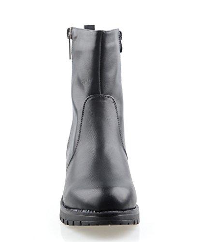 Eyekepper mujeres está completamente forrada de piel de invierno botas de doble cremallera lateral