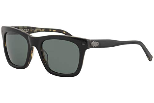 - John Varvatos V510 Square Sunglasses, Black/Tort UF, 21 mm
