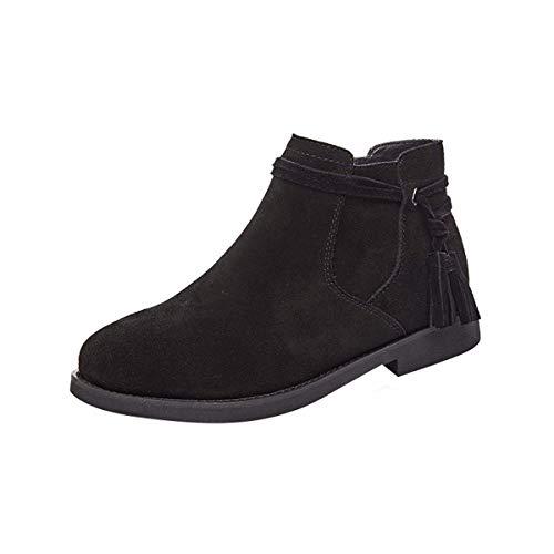 Gli Scarpe da Chelsea Autunno Joker Boots Stivali Pelle 37 D'Corti donna KPHY Black E Stivali Martin T7Cndpqw7x