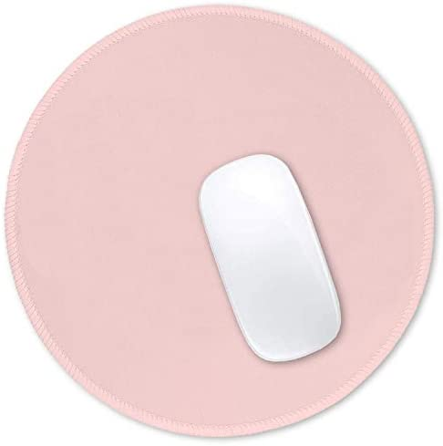 Hsurbtra Mouse Pad, Premium-Textured Small Round Mousepad 8.7 x 8.7 Inch Pink, Stitched Edge Anti-Slip Waterproof Rubber Mouse Mat, Pretty Cute Mouse Pad for Office Home Gaming Laptop Men Women Kids