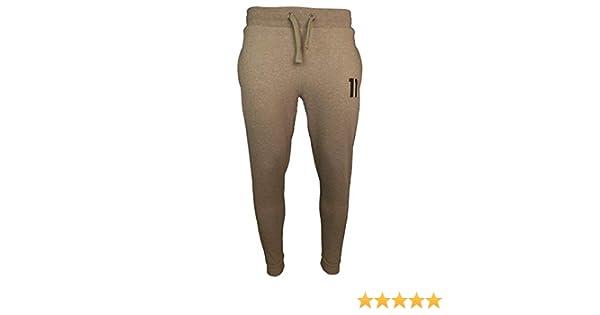 11 Degrees de los Hombres Joggers Principales, marrón, L: Amazon ...