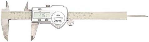 PJPPJH Digital Vernier Caliper, 0-150mm High Accuracy Waterproof Stainless Steel Electronic Digital Caliper Measuring Tool for Inner Diameter, Outer Diameter, Depth and Step