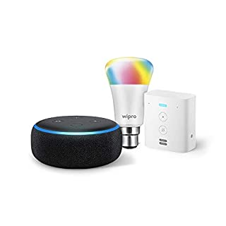 Echo-Dot-Black-bundle-with-Echo-Flex-and-Wipro-9W-smart-bulb