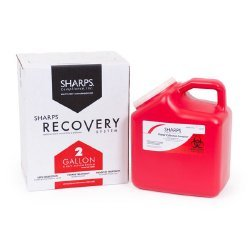 The Sharps Disposal By Mail System PRO-TEC Mailback Sharps Container, 1-Piece 2 Gallon Red Snap On Lid, 12000-012 - Each by The Sharps Disposal By Mail System PRO-TEC