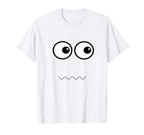 Funny Ghost Face Shirt Lazy Halloween Costume Idea -