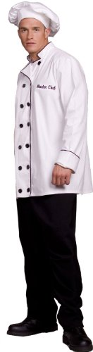 Underwraps Costumes Men's Cook Costume - Master Chef, White/Black, One Size