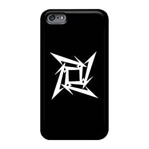 Scratch Protection Cell-phone Hard Cover For Iphone 6 (oSv7596uziB) Custom High-definition Metallica Band Skin