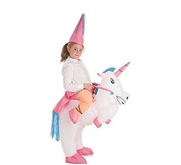 Disfraz Hinchable de Hada montando Unicornio para niña ...