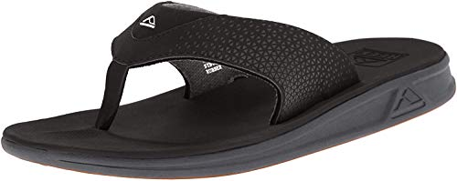 Reef Men's Sandals Rover | Water-Friendly Men's Sandal With Maximum Durability and Comfort | Waterproof, Black, 11