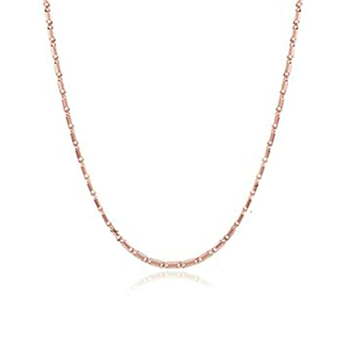 Cheshire Cat Costumes 2016 (AmDxD Jewelry Gold Plated Chain Necklaces for Men Women Rose Gold Flat Square)