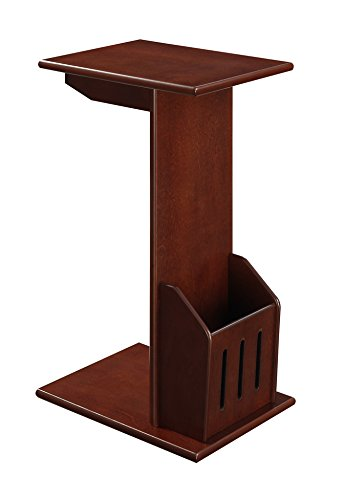 Convenience Concepts Abby Magazine C End Table, Mahogany