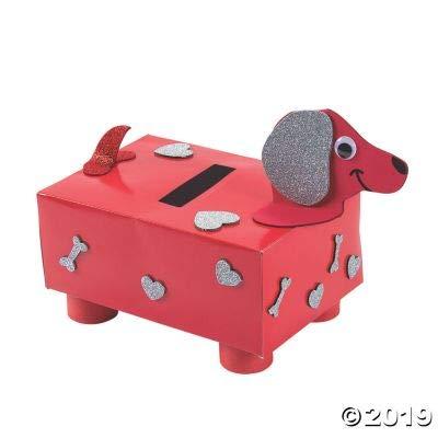 Fun Express Valentine#039s Day Puppy Card Holder Box Craft Kit  1 Piece