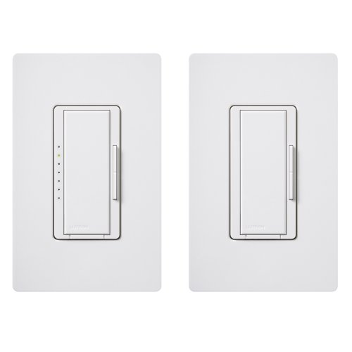 Lutron Maestro C.L Dimmer Kit for dimmable LED, Halogen and Incandescent Bulbs, Single-Pole/3-Way/Multi-Location, MACL-153M-RHW-WH, White 3 Way Switch Two Lights