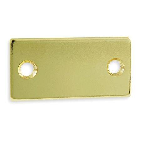 Battalion 1XMU9 Filler Plate, Strike, Brass, L 2 1/4 (Brass Filler Plate)