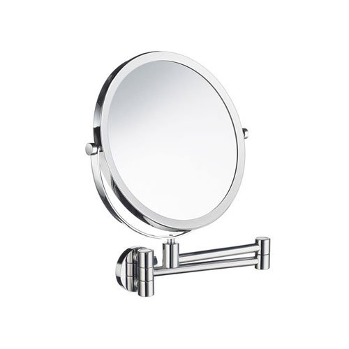 Smedbo Wall Mount Mirror (Smedbo FK445 Wall Mounted 7X Magnification/Normal Make-Up Mirror, Polished Chrome)