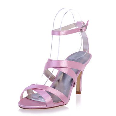 Satin Open Women'S Evening Party Sandals More amp;Amp; Stiletto Shoes UK3 US5 Colors CN34 EU35 Toe Shoes Wedding Heel Available wB5S4B