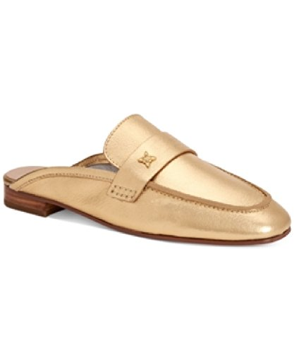 BCBGeneration Womens Sabrina Suede Square Toe Mules, Gold, Size 6.5
