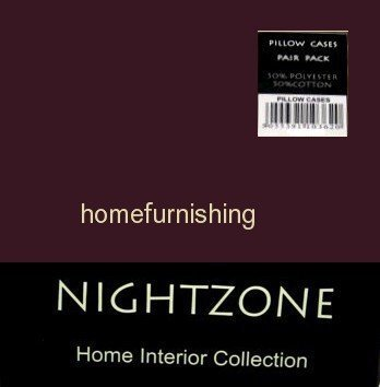 Polycotton Pair Of Pillow Cases - Plum by Nightzone by Nightzone
