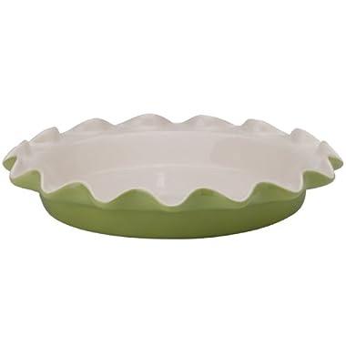 Rose Levy Beranbaum's Perfect Pie Plate, 9-Inch, Ceramic, Sage