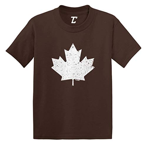 (Canadian Maple Leaf - Canada Pride Infant/Toddler Cotton Jersey T-Shirt (Brown, 18 Months) )