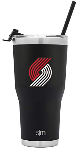 Simple Modern Portland Trailblazers 30oz Cruiser Tumbler with Straw - NBA - 18/8 Stainless Steel Vacuum Insulated Travel Mug