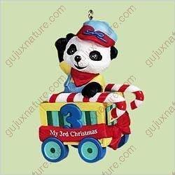 Hallmark Childs Third Christmas Ornament - Child's Third Christmas - Bear 2004 Hallmark Ornament QXG5764 by Hallmark
