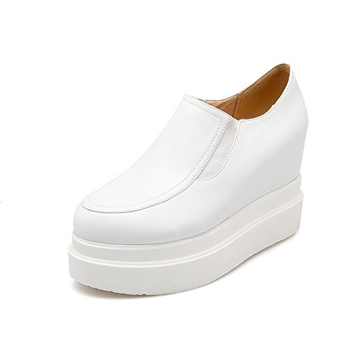 Pumps Imitated BalaMasa Shoes Leather Girls Toe White American Buttom Muffin Round nqHYFqB8