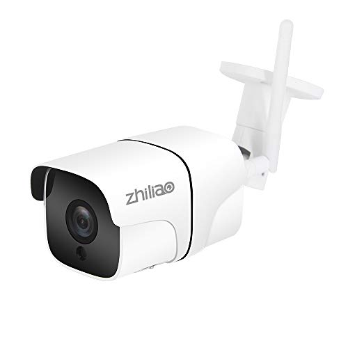 Zhiliao WiFi IP Camera, 2.0MP Outdoor Security Camera with Waterproof/Night Vision/Max 128G TF Card Supported Wireless Surveillance Camera