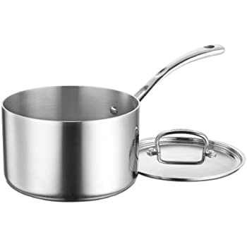 Cuisinart FCT194-20 French Classic Tri-Ply Stainless 4-Quart Saucepot with Cover